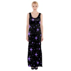 Bright Purple   Stars In Space Maxi Thigh Split Dress