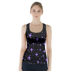 Bright Purple   Stars In Space Racer Back Sports Top by Costasonlineshop