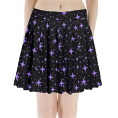 Bright Purple   Stars In Space Pleated Mini Skirt