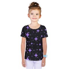 Bright Purple   Stars In Space Kids  One Piece Tee by Costasonlineshop