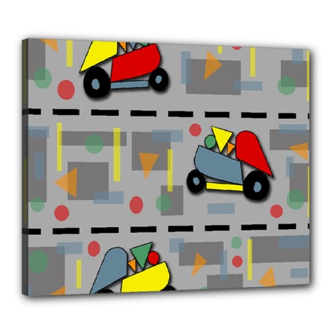 Toy Cars Canvas 24  X 20  by Valentinaart