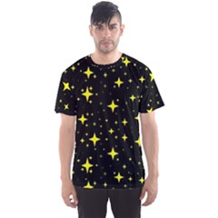 Bright Yellow   Stars In Space Men s Sport Mesh Tee by Costasonlineshop