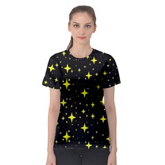 Bright Yellow   Stars In Space Women s Sport Mesh Tee by Costasonlineshop