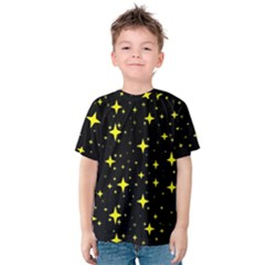 Bright Yellow   Stars In Space Kids  Cotton Tee by Costasonlineshop