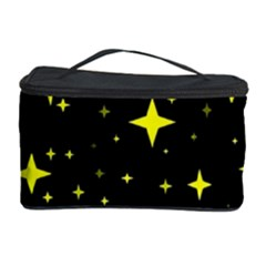 Bright Yellow   Stars In Space Cosmetic Storage Case by Costasonlineshop