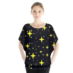 Bright Yellow   Stars In Space Blouse by Costasonlineshop