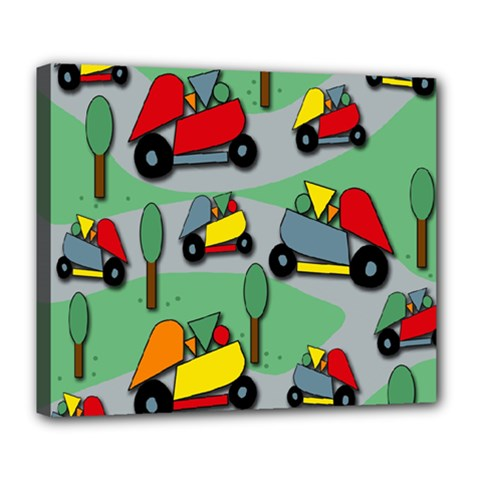 Toy car pattern Deluxe Canvas 24  x 20   by Valentinaart