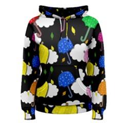 Umbrellas 2 Women s Pullover Hoodie by Valentinaart