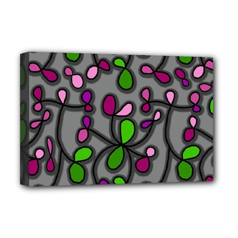 Floral Pattern Deluxe Canvas 18  X 12   by Valentinaart