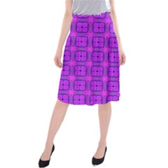 Abstract Dancing Diamonds Purple Violet Midi Beach Skirt by DianeClancy
