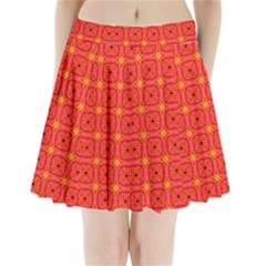 Peach Apricot Cinnamon Nutmeg Kitchen Modern Abstract Pleated Mini Skirt by DianeClancy
