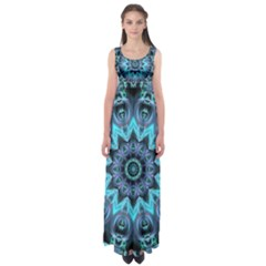 Star Connection, Abstract Cosmic Constellation Empire Waist Maxi Dress