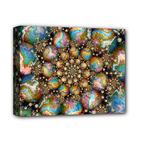 Marbled Spheres Spiral Deluxe Canvas 14  X 11  by WolfepawFractals