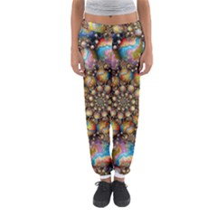 Marbled Spheres Spiral Women s Jogger Sweatpants by WolfepawFractals