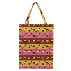 Cupcakes Pattern Classic Tote Bag by Valentinaart