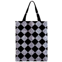 Square2 Black Marble & Gray Marble Zipper Classic Tote Bag by trendistuff