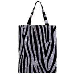 Skin4 Black Marble & Gray Marble Zipper Classic Tote Bag by trendistuff