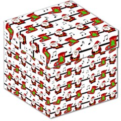 Xmas Song Pattern Storage Stool 12   by Valentinaart