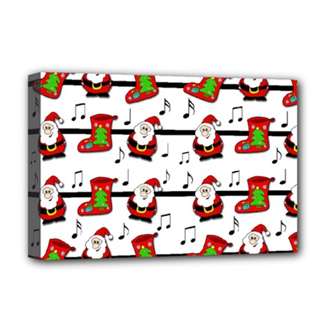 Xmas Song Pattern Deluxe Canvas 18  X 12   by Valentinaart