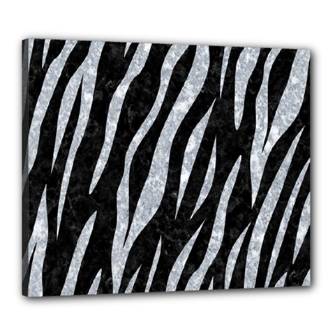 Skin3 Black Marble & Gray Marble Canvas 24  X 20  (stretched)
