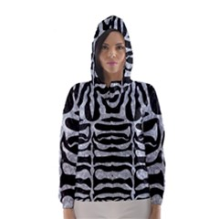 Skin2 Black Marble & Gray Marble Hooded Wind Breaker (women)