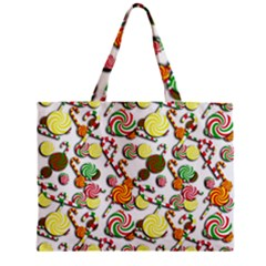 Xmas Candy Pattern Mini Tote Bag by Valentinaart