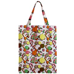 Xmas Candy Pattern Zipper Classic Tote Bag by Valentinaart