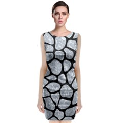 Skin1 Black Marble & Gray Marble Classic Sleeveless Midi Dress by trendistuff
