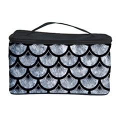 Scales3 Black Marble & Gray Marble (r) Cosmetic Storage Case by trendistuff