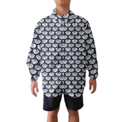 Scales3 Black Marble & Gray Marble (r) Wind Breaker (kids) by trendistuff