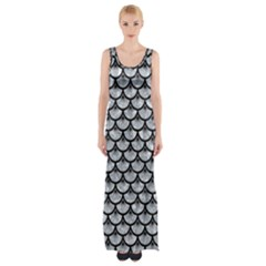 Scales3 Black Marble & Gray Marble (r) Maxi Thigh Split Dress by trendistuff