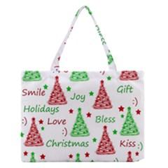 New Year Pattern Medium Zipper Tote Bag by Valentinaart