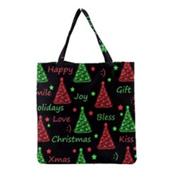 New Year Pattern   Red And Green Grocery Tote Bag by Valentinaart