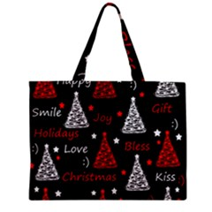 New Year Pattern   Red Zipper Mini Tote Bag by Valentinaart