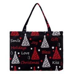 New Year Pattern   Red Medium Tote Bag by Valentinaart
