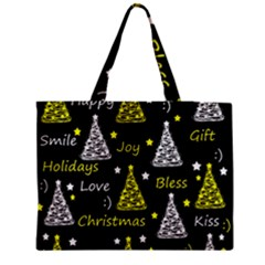 New Year Pattern   Yellow Medium Zipper Tote Bag by Valentinaart