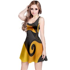 Black Yellow Reversible Sleeveless Dress by AnjaniArt