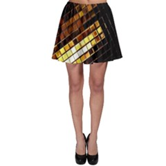 Gold Flecks Skater Skirt by justbeeinspired2
