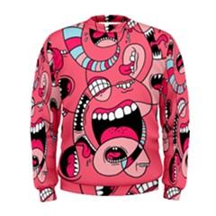 Big Mouth Worm Men s Sweatshirt by AnjaniArt