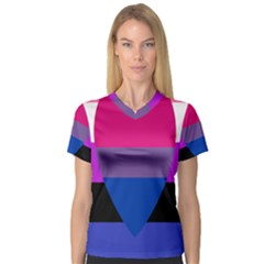 Combo Flag Women s V Neck Sport Mesh Tee by AnjaniArt