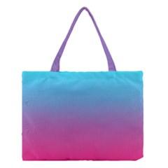 Blue Pink Purple Medium Tote Bag by AnjaniArt