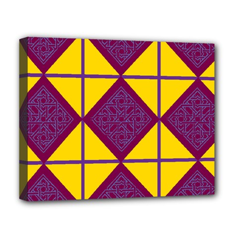 Complexion Purple Yellow Deluxe Canvas 20  X 16   by AnjaniArt