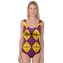 Complexion Purple Yellow Princess Tank Leotard  by AnjaniArt