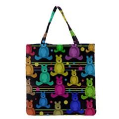 Teddy Bear 2 Grocery Tote Bag by Valentinaart