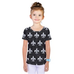 Royal1 Black Marble & Gray Marble (r) Kids  One Piece Tee