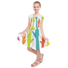 Hand Coloor Kids  Short Sleeve Dress by AnjaniArt