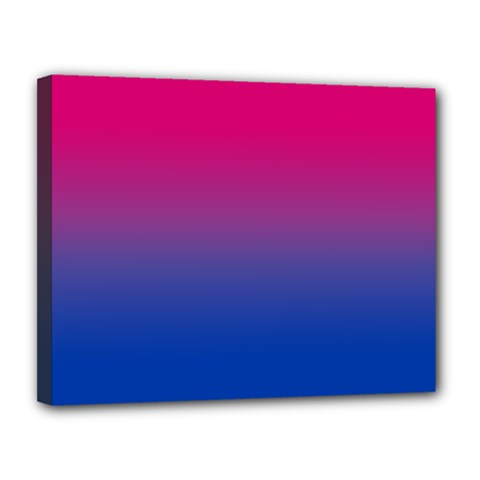 Pink Blue Purple Canvas 14  X 11  by AnjaniArt