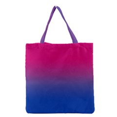 Pink Blue Purple Grocery Tote Bag by AnjaniArt