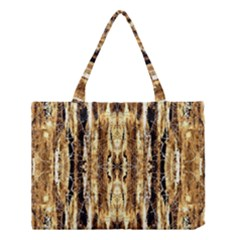 Beige Brown Back Wood Design Medium Tote Bag by Costasonlineshop