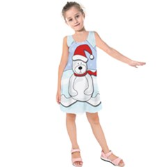 Polar Bear Kids  Sleeveless Dress